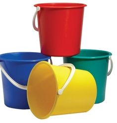 Round coloured plastic bucket. Great for cleaning, for use in schools, restaurants or for household use. To add the item to basket please click on the product and select the colour you would like. Sold individually.