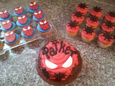 Spiderman cupcakes & smash cake https://www.facebook.com/ADreamAndAWhisk