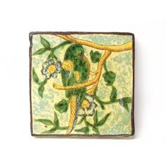 "Alessi Sicilian Caltagirone 4X4"" Tile with parrot"