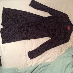 Never been worn lightweight jacket Never been worn dark grey/taupe with black details of lip/kiss prints.  Kirna Zabete for Target, sz xs Jackets & Coats Trench Coats