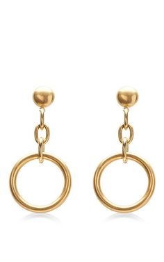 Circular Pale Gold Earrings by MARNI for Preorder on Moda Operandi