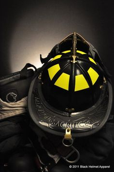 Black Helmet Supply 9/11 Leather Tribute Helmet (produced by LION) | Shared by LION