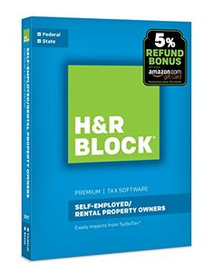 H&R Block Tax Software Premium 2017 + Refund Bonus Offer - Guidance for all your personal tax situations. Federal forms. Step-by-step interviews guide you through a customized experience relevant to your tax situation.