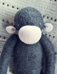 upcycled wool monkey