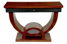 Walnut Art Deco Console Table Hall Tables Vintage Furniture