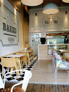 These walls are nice - big visual impact with not so much English (just enough to be interesting...) Valentina bakery | Medellín, Colombia