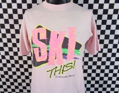 SKI This T-shirt / Vinage Ski Tshirt / Colorado River Shirt / 90s / XL / XLarge / Skiing Shirt / Made in USA / Souvenir / Tourist / Vtg Tee