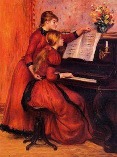 "La leçon de piano"", Pierre-Auguste Renoir, 1889"