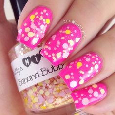 Banana Bubble Gum Nails