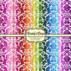 Rainbow Damask Collection.