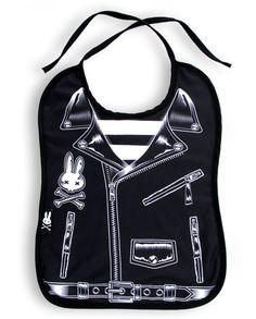 Six Bunnies Rocker Jacket Bib Tattoo Punk Rockabilly Baby Alternative Rock Black