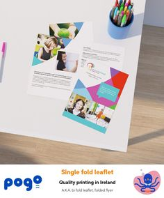 Single folded leaflet printing in Ireland Leaflet Template, Templates, Leaflet Printing, Printing Services, Ireland, How To Memorize Things, Marketing, A5, Paper