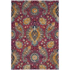 Safavieh Madison Bohemian Fuchsia / Gold Rug (7u0027 X ...