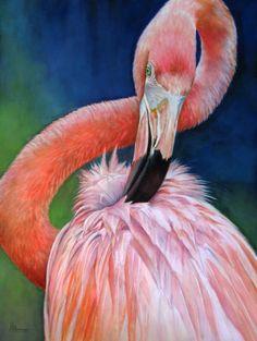 "Contemporary Painting - ""Rubberneck"" (Original Art from Judy Nunno). Watercolor"