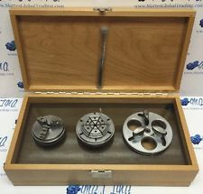 MARSHALL 3 JAW CHUCK GERMANY 6 JAW  & FACEPLATE WATCHMAKERS LATHE 8mm W/ BOX