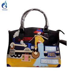 Bolsas fashion girl paris Pu Leather car lady style Messenger-Bag