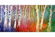 Träd - Knivmålning 50x100 cm