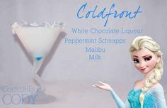 Cold Front • White chocolate liqueur, peppermint schnapps, Malibu, milk | Disney Cocktails You Have to Try
