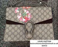 7c02cf4723c Gucci Dionysus Blooms Print GG Supreme Shoulder Bag 400235 Tan 2015