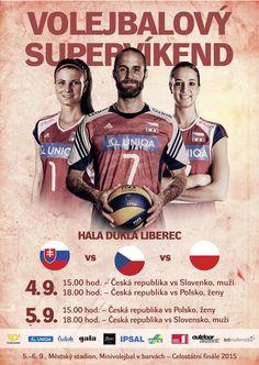 Plakát volejbalového supervíkendu.