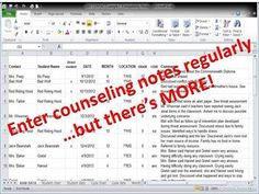 COUNSELING NOTES: Data  Documentation