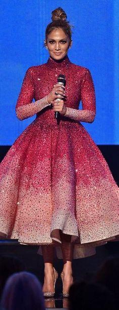 Jennifer Lopez: Shoes – Christian Louboutin Dress – Michael Cinco