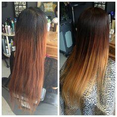 I love it when a client is so pleased they do a little clap. New hair! #dipdye #colourmelt #longhair #rockalily #hoxton #hackney #eastlondon #haircut