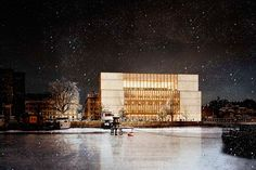 david chipperfield reveals modified design of stockholm's nobel center