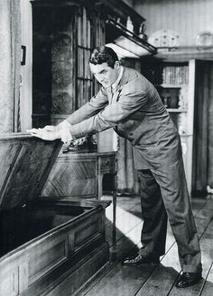 "Cary Grant in ""Arsenic and Old Lace"", (1944)."