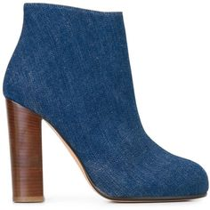 Jean-Michel Cazabat 'Lectoure' boots ($272) ❤ liked on Polyvore featuring shoes, boots, blue, blue shoes, jean-michel cazabat, leather boots, real leather boots and leather footwear