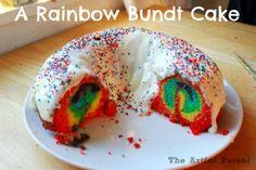 A Rainbow Bundt Cake