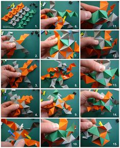 Cuboctahedron tutorial 1 (knotology) by Dasssa, via Flickr