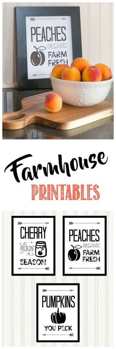 Farmhouse Fall Harvest Printables
