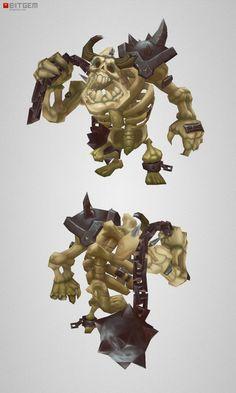 Low Poly Skeleton Grunt