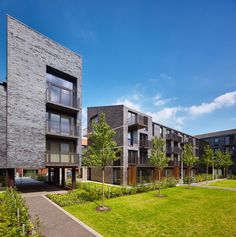 brick stock + balcony variation - courtyard facades - Laurieston, Phase 1 - Gorbals, Glasgow - Elder + Cannon