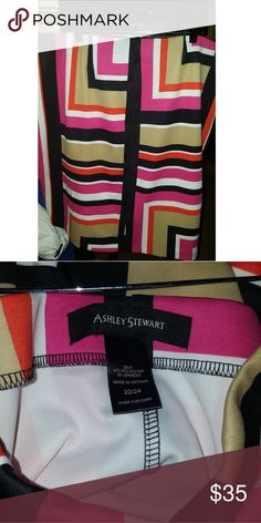 """Ashley Stewart Striped Skirt Multi colored skirt. Pull on style.  Size 22/24 fits 18/20 perfectly! Worn once  Excellent condition 25"""" length 20"""" waist Don't like the price? Make a reasonable offer. 🚫 No trades 🚫 💣 Bundle 2+ items for a discount💣 Ashley Stewart Skirts"""