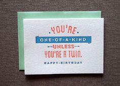 27 Cheeky Letterpress Birthday Cards You'll Love via Brit + Co.