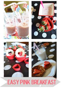 Easy Pink Breakfast | Don't Panic Mom