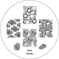 CH44 Nail Art Stamp Stamping Manicure Nailart New Designs Image Plate by Cheeky® Cheeky http://www.amazon.com/dp/B00H86IYZM/ref=cm_sw_r_pi_dp_i9TSub1D5M5JJ