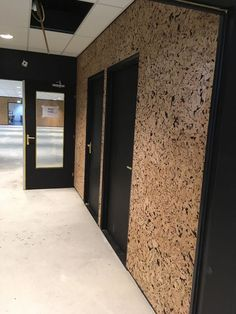 Photographers Office, Home Office Design, House Design, Osb Wood, Cork Panels, Cork Wall, Corporate Interiors, Forest House, Annex