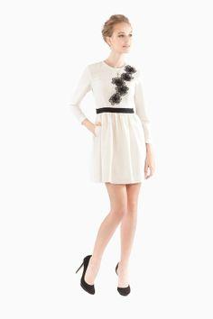 Designer 3D flower dress with ruffle skirt for all occasion.  https://www.etsy.com/listing/170712484/3d-flower-long-sleeve-white-dress?ref=shop_home_active