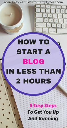 Have you wanted to start a blog, but just don't know where to start? This is an easy 5 step guide to get you going. #blogging #startablog #howtoblog #bloggingresources