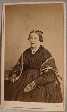 CDV of Elderly Lady Wearing Lace Gloves   eBay