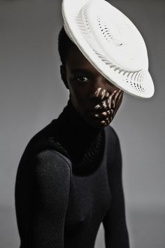"""opaqueglitter: """" Gabriela Ligenza's 3d printed hats, AW14 """""""