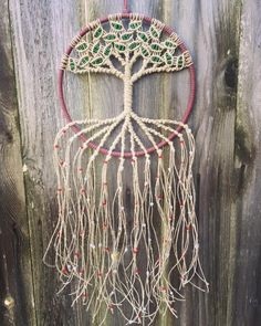 Mexican Flag Colors Dream Catcher
