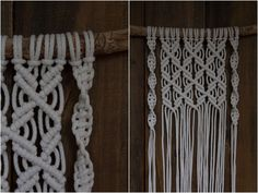 Kuvalliset ohjeet: makramee seinävaate Macrame Projects, Handicraft, Diy And Crafts, Homemade, Crafty, Creative, Inspiration, Home Decor, Challenges