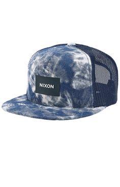 Gorra Cap Mens Nixon Team Trucker Blue Fade Street Skate Urban a7931f293e1
