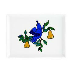 Partridge In A Pear Tree Rectangular Cocktail Plate   http://www.cafepress.com/+partridge_in_a_pear_tree_rectangular_cocktail_plat,1080751288?aid=14812411 #christmas