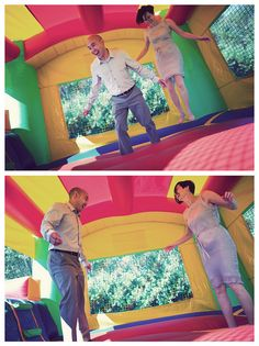 I so want a bounce house at my wedding!