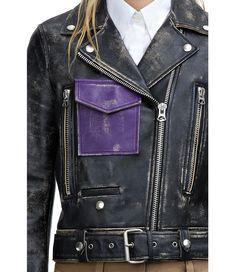 Acne Saxe black contrast jacket